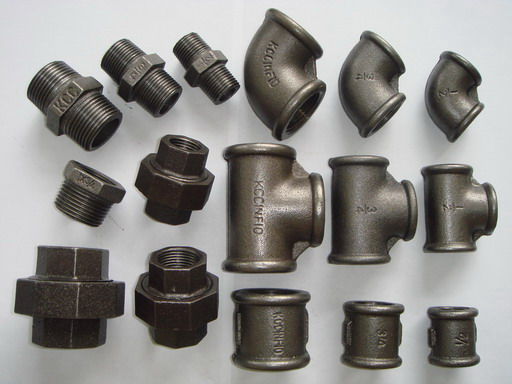 1 2 bsp malleable iron pipe fittings black iron finish for Painting black iron pipe