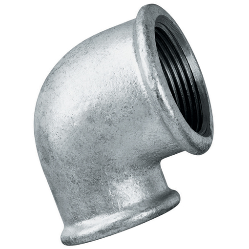 Galvanised iron pipe fittings unequal elbow female