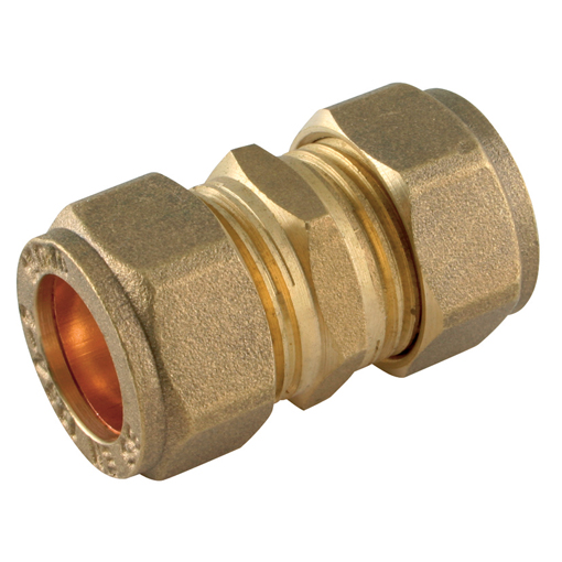 Mm compression fitting equal metric straight coupler
